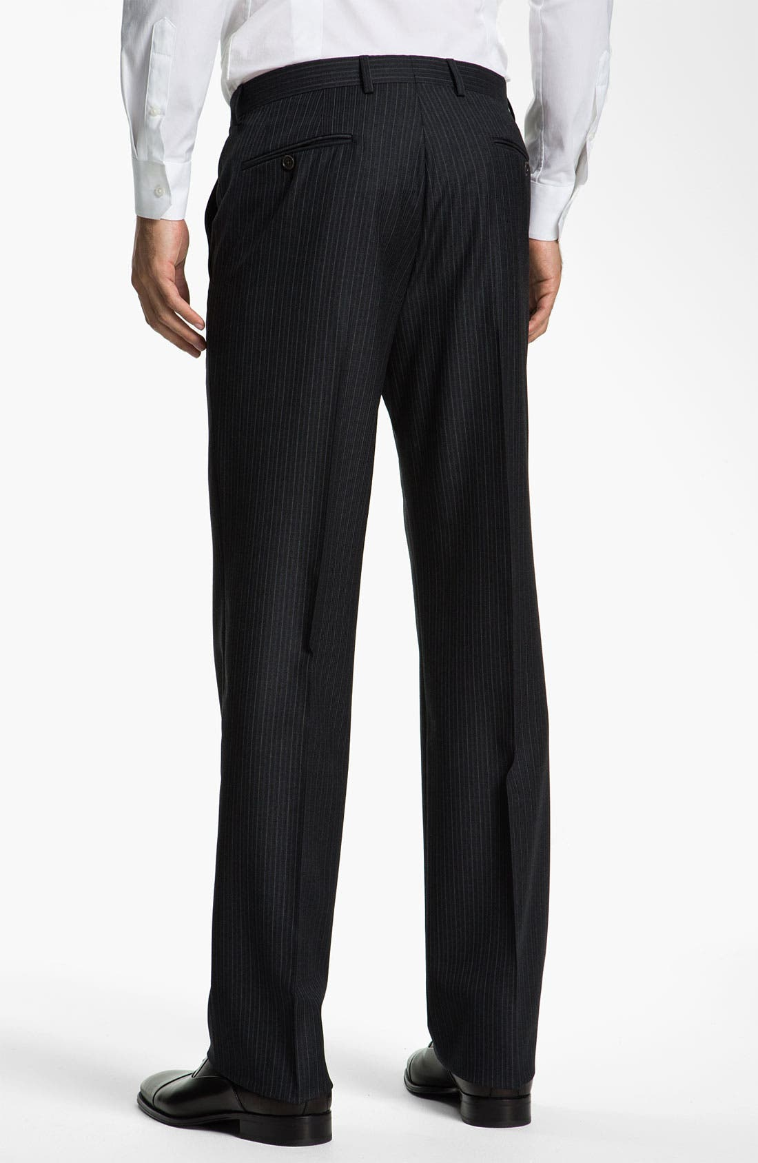 Alternate Image 5  - John Varvatos Star USA 'Bedford' Trim Fit Stripe Suit