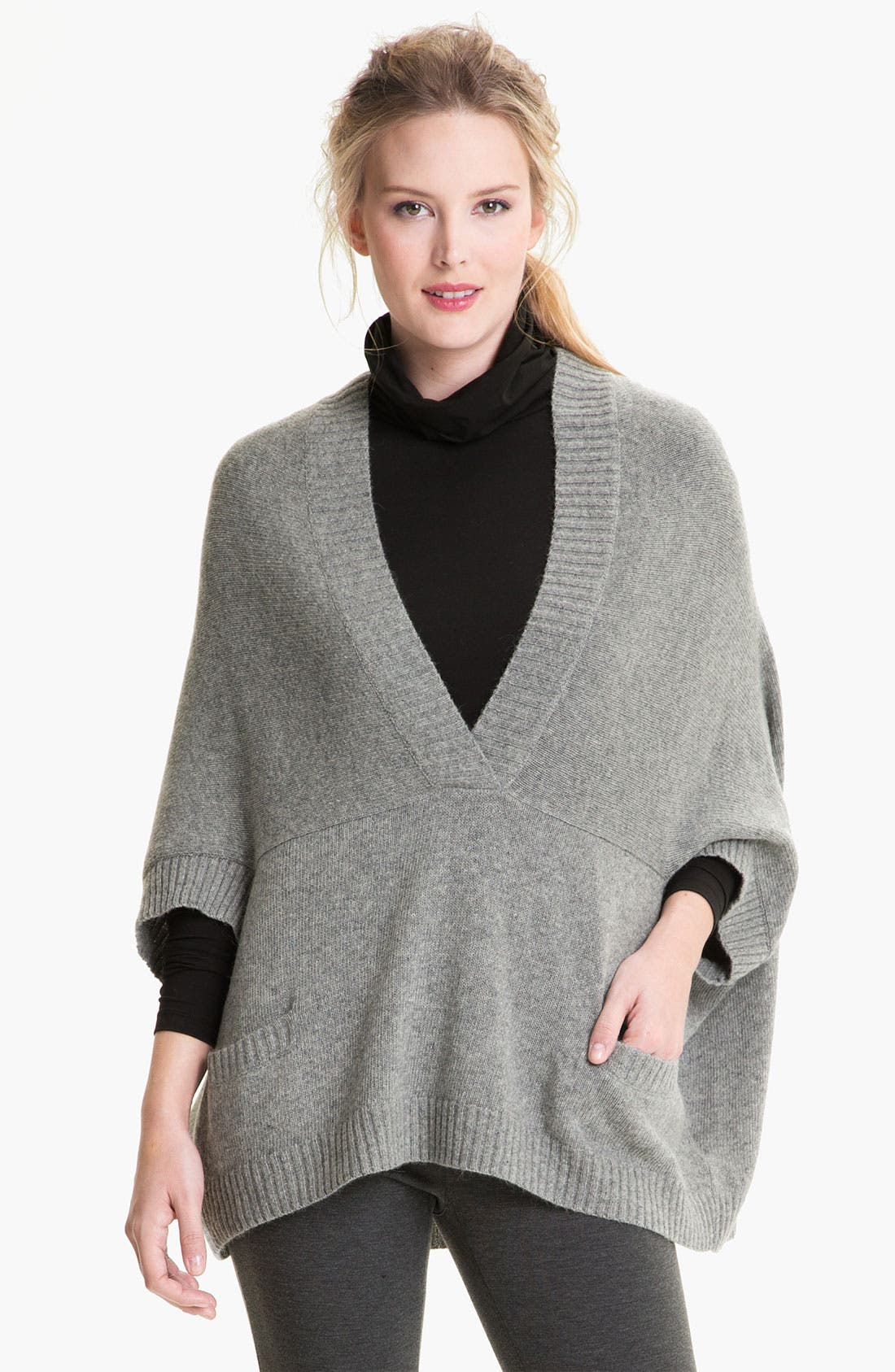 Alternate Image 1 Selected - Lafayette 148 New York Wool Blend Poncho Pullover