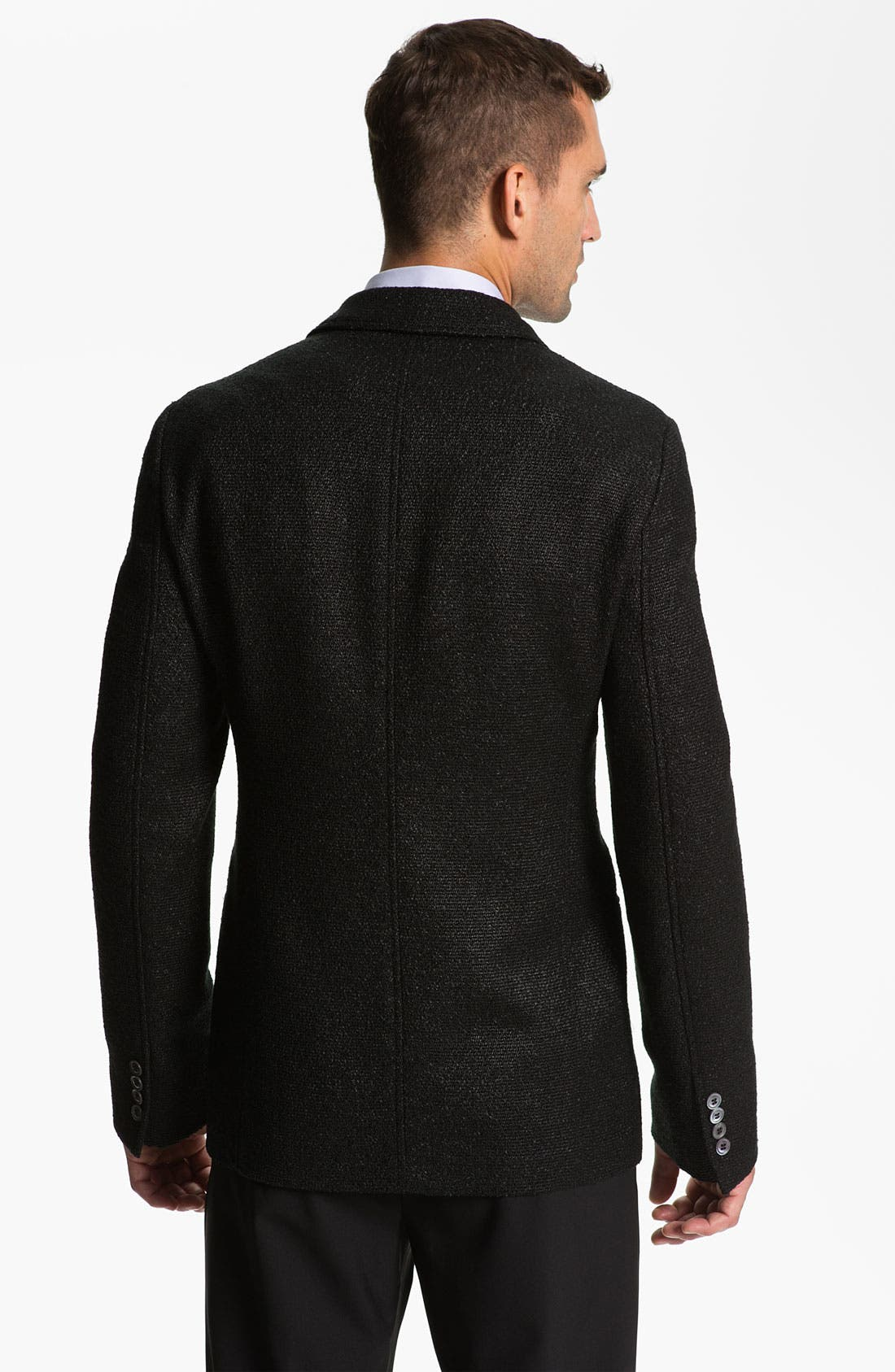 Alternate Image 2  - Armani Collezioni Trim Fit Blazer