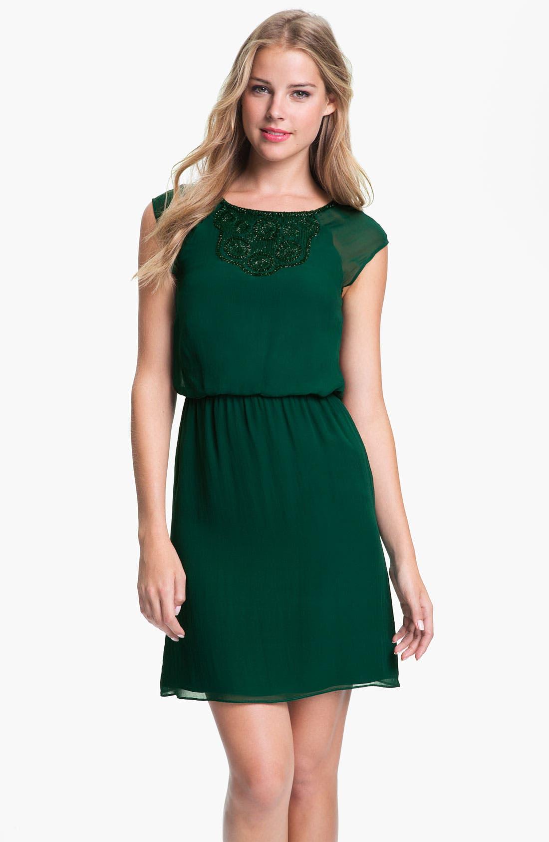 Main Image - Trina Turk 'Countess' Beaded Shift Dress