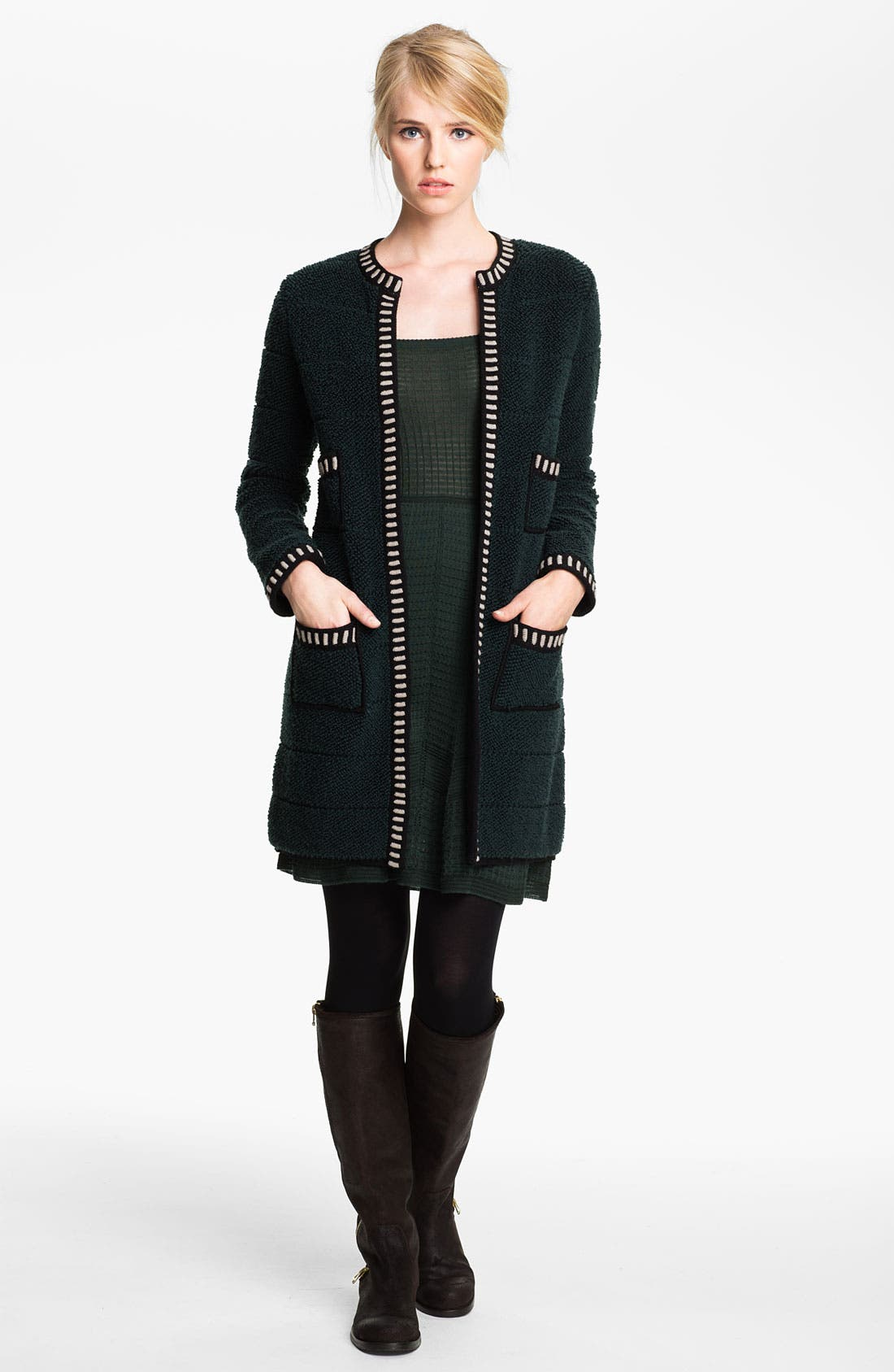 Alternate Image 1 Selected - M Missoni Loop Stitch Sweater Coat