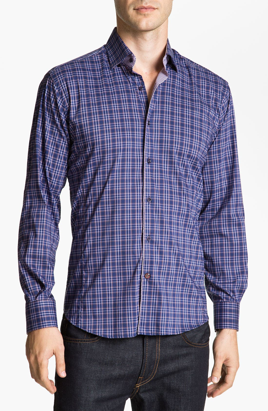 Main Image - Stone Rose Check Woven Shirt