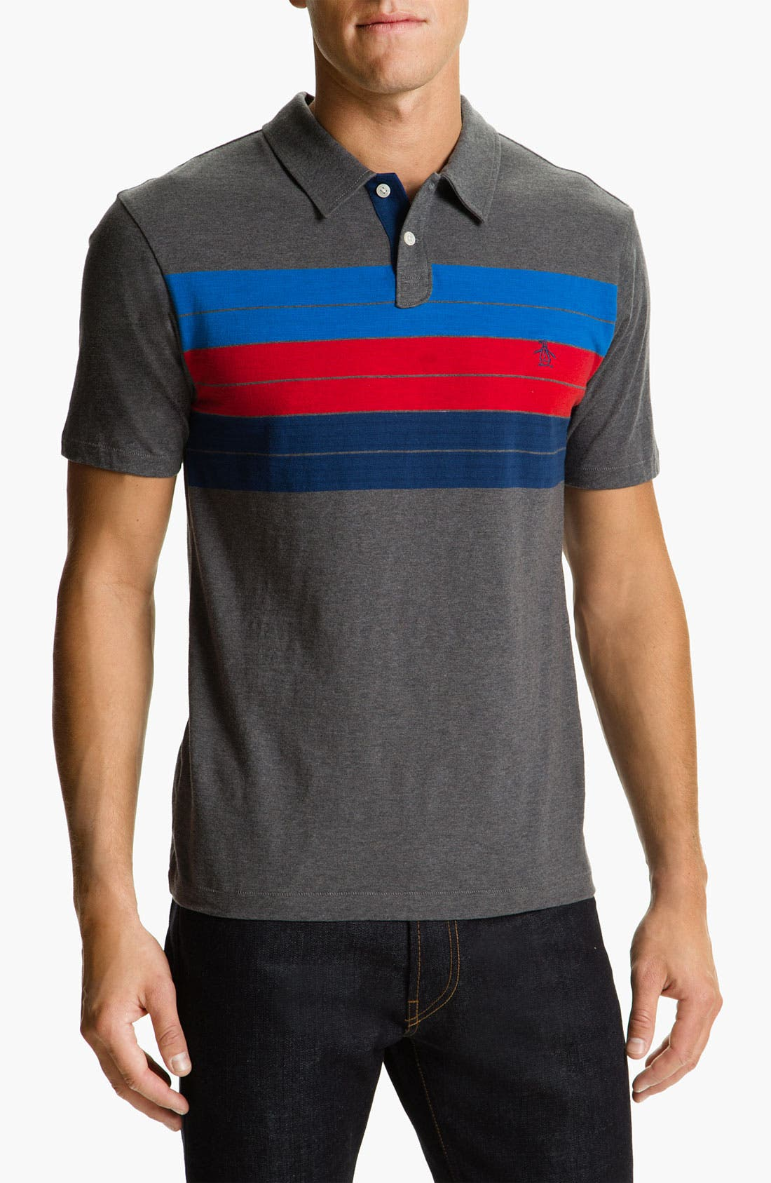 Alternate Image 1 Selected - Original Penguin Chest Stripe Polo