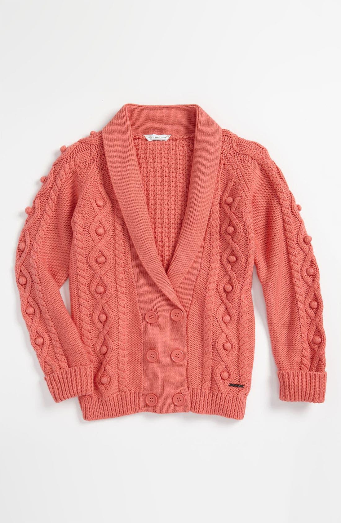 Main Image - LITTLE MARC JACOBS Knit Cardigan (Little Girls & Big Girls)