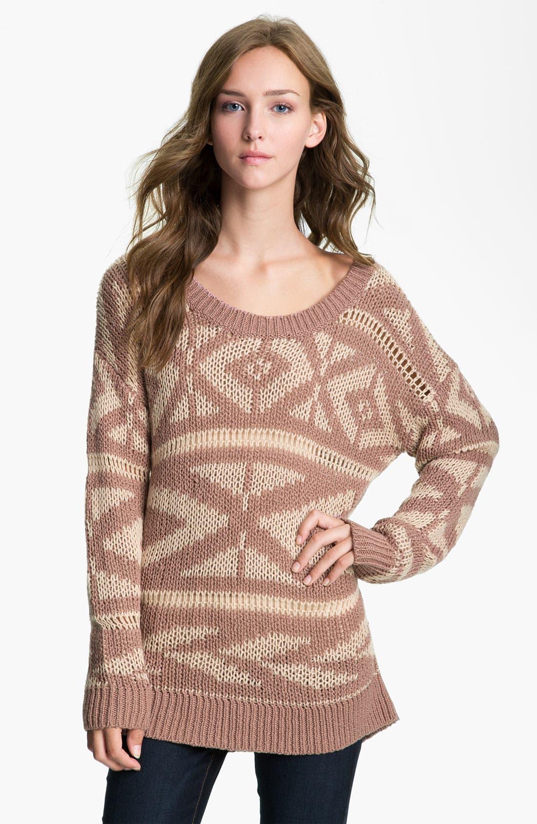 Alternate Image 1 Selected - Rubbish® Fair Isle Sweater (Juniors)
