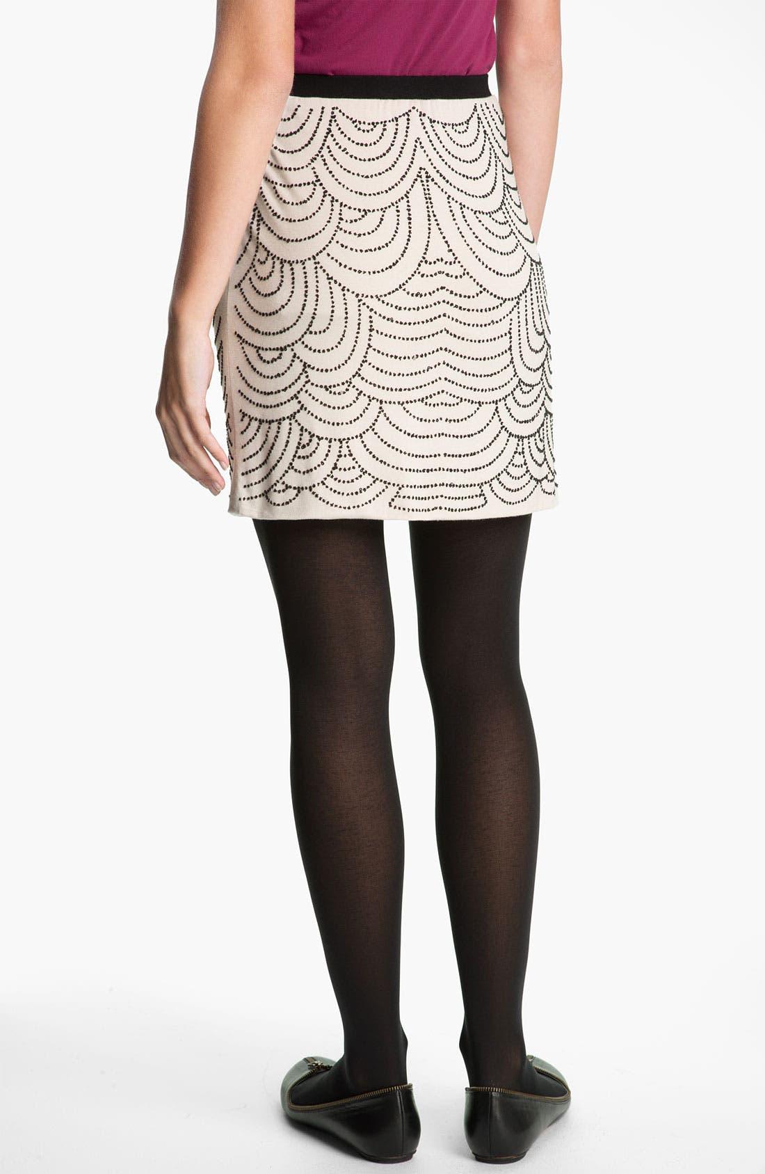 Alternate Image 2  - h.i.p. Beaded Skirt (Juniors)