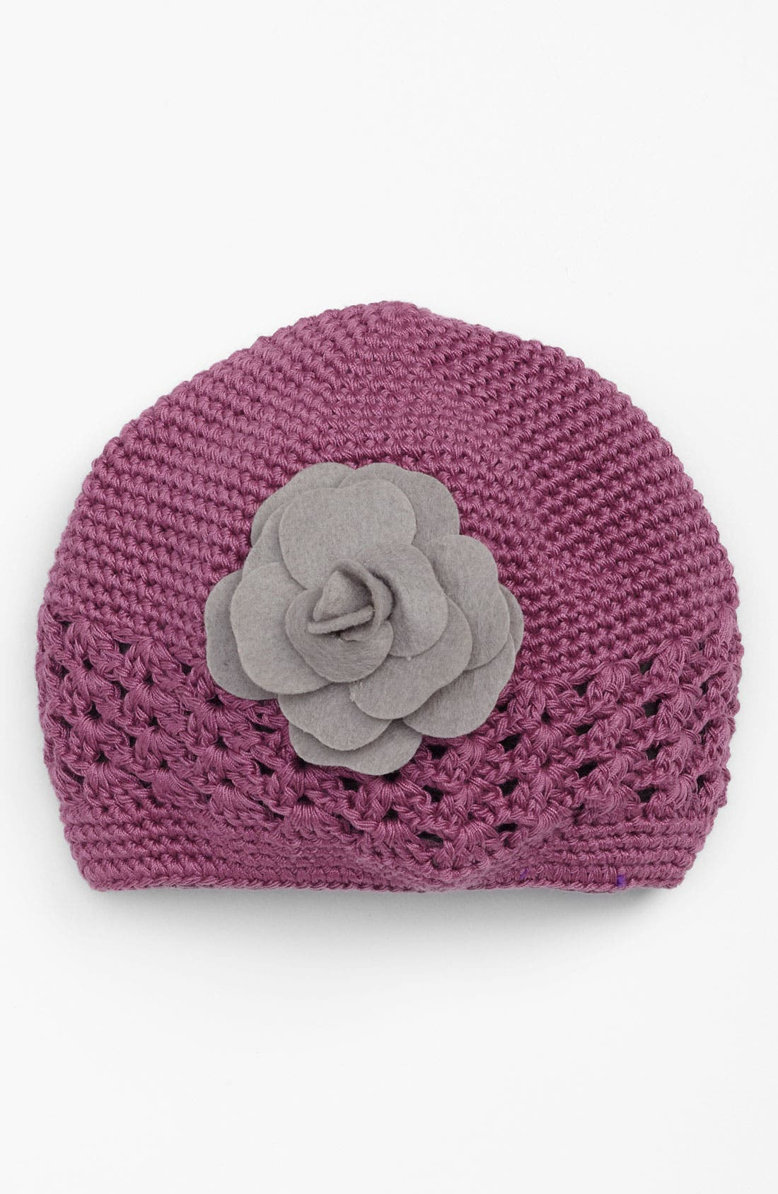 Alternate Image 1 Selected - PLH Bows & Laces Crochet Hat (Infant)