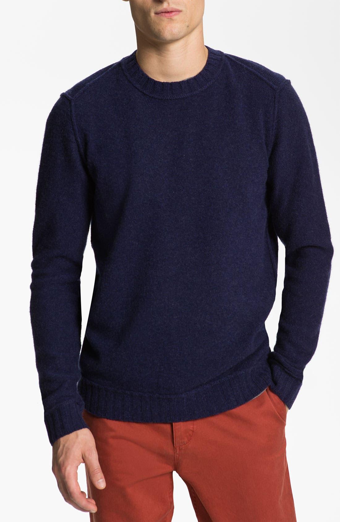Alternate Image 1 Selected - BOSS Orange Wool Crewneck Sweater