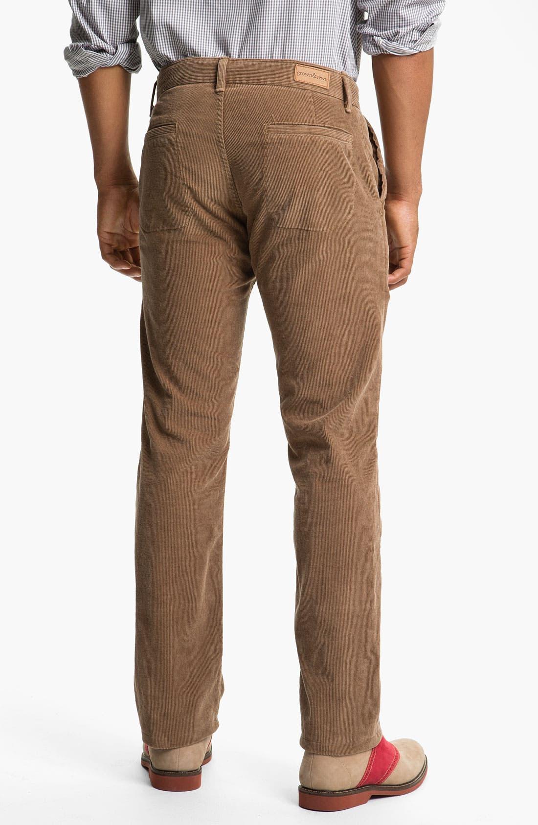 Alternate Image 2  - Grown & Sewn 'Legend' Corduroy Pants