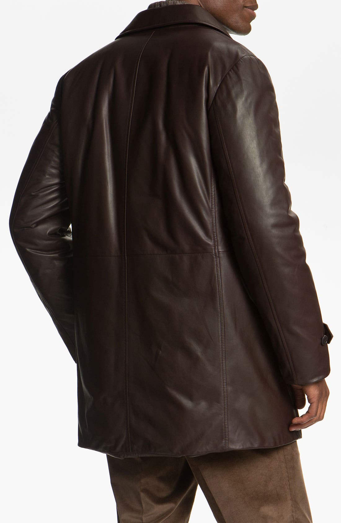 Alternate Image 2  - Canali Leather Coat