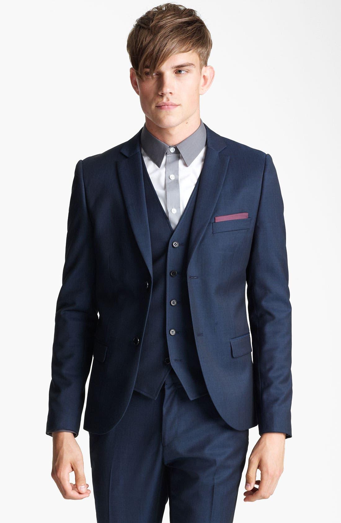 Alternate Image 1 Selected - Topman 'Tonic' Skinny Blazer