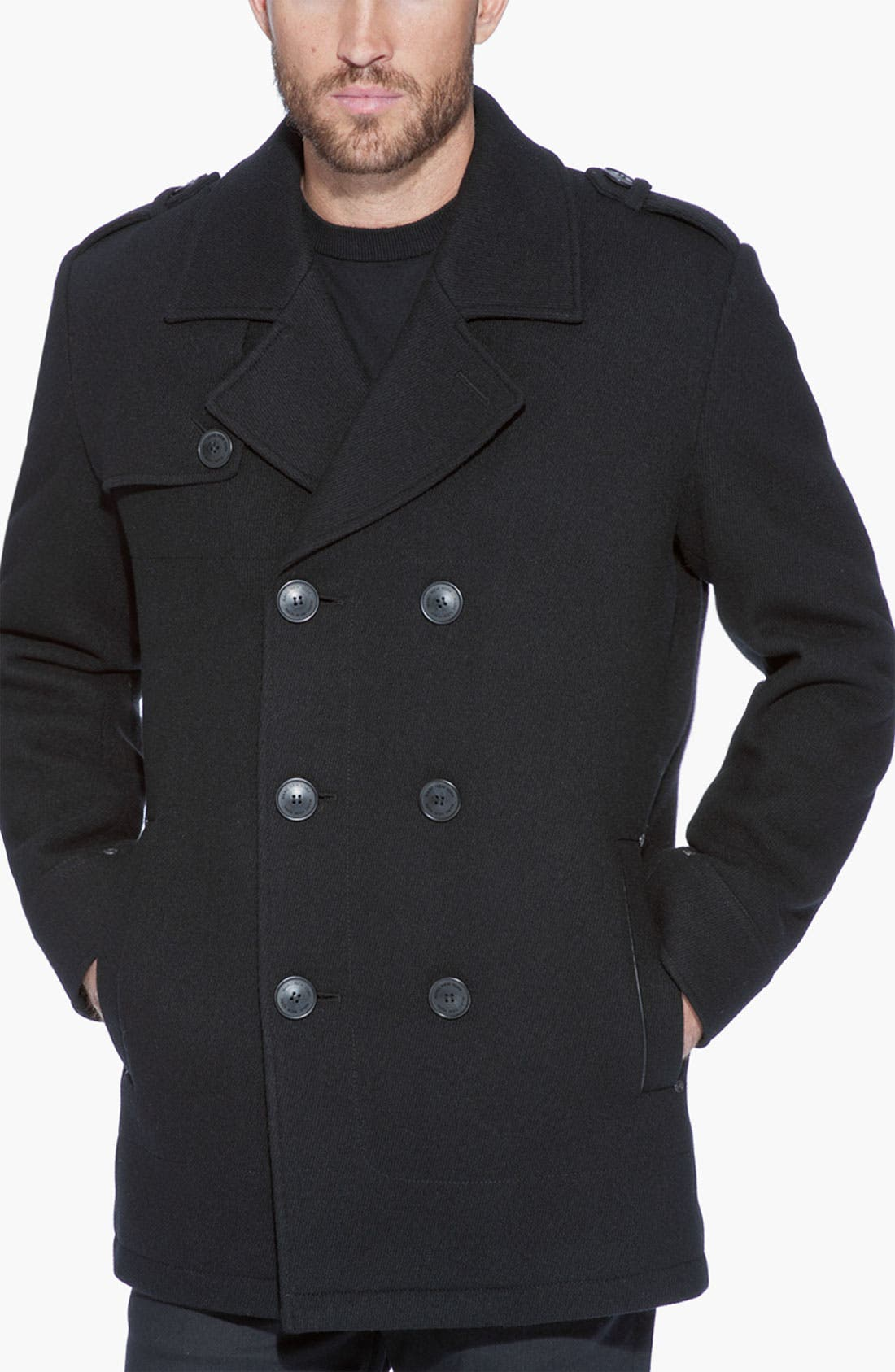 Alternate Image 1 Selected - Marc New York by Andrew Marc 'Nick' Wool Blend Peacoat