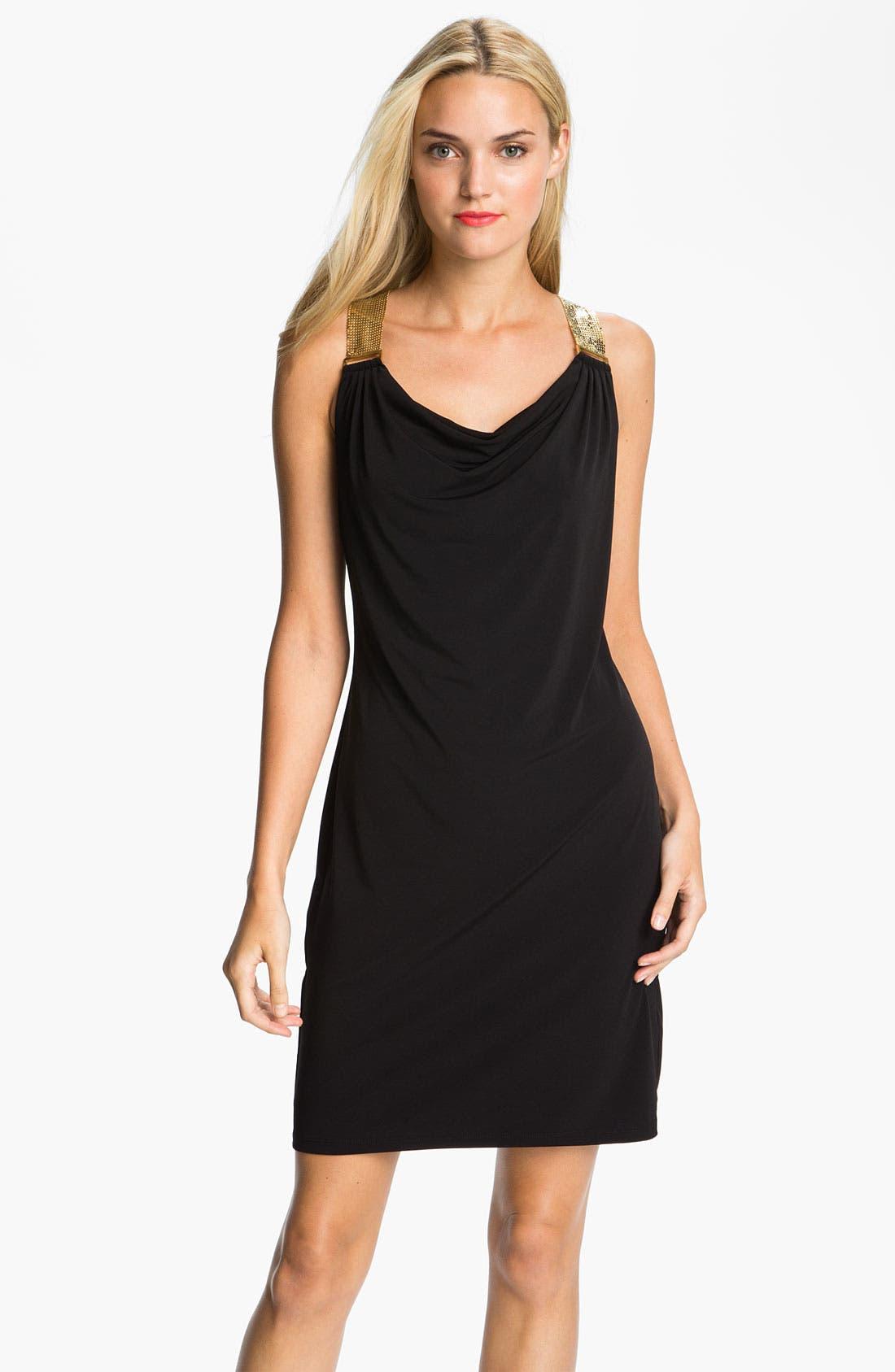 Main Image - MICHAEL Michael Kors Metal Strap Dress