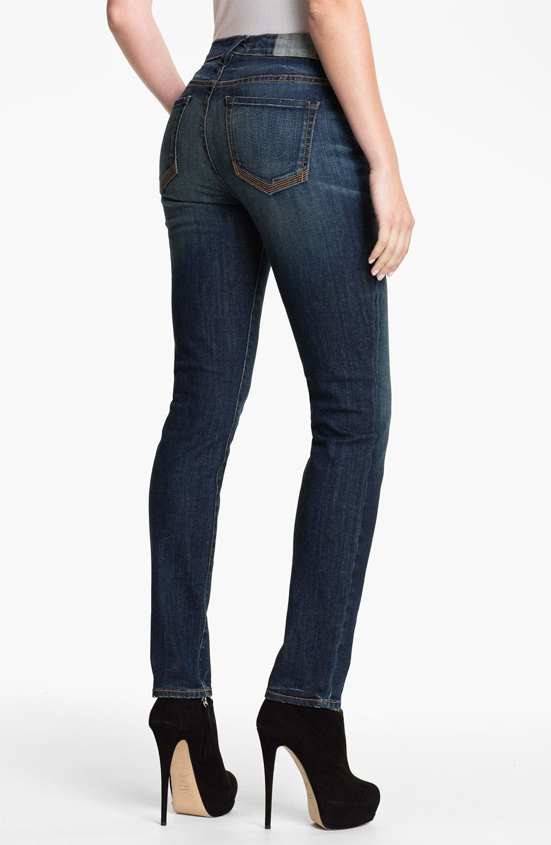 Alternate Image 2  - TEXTILE Elizabeth and James 'Cyndi' High Rise Skinny Jeans