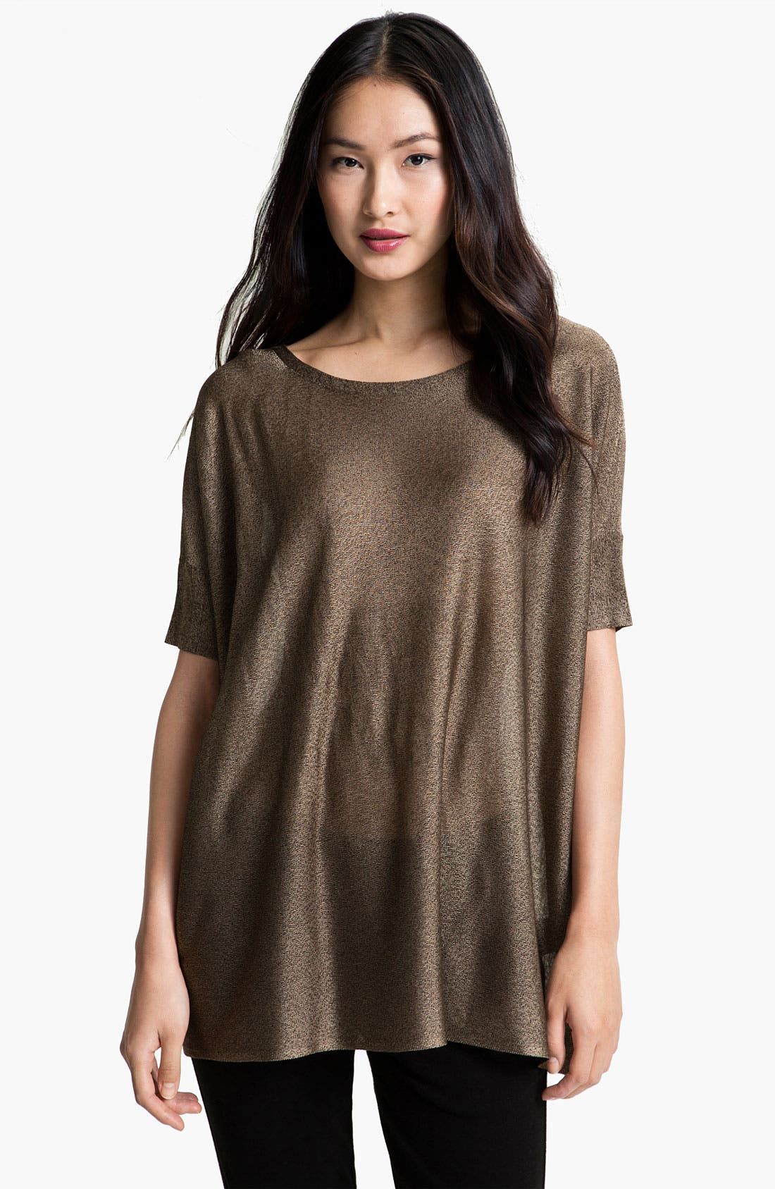 Alternate Image 1 Selected - Eileen Fisher Liquid Shine Tunic Top