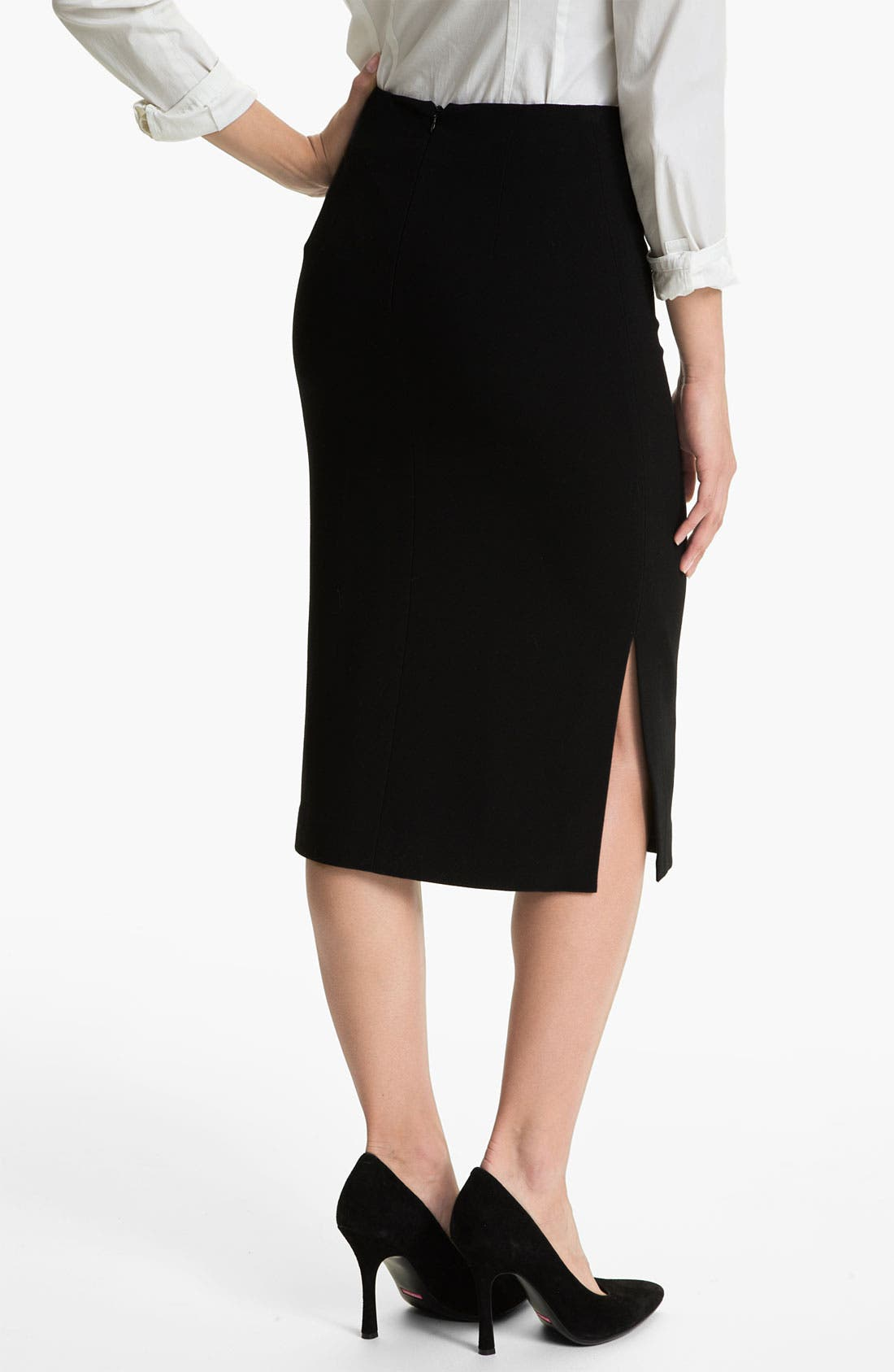 Alternate Image 2  - Vince Camuto Side Slit Midi Skirt