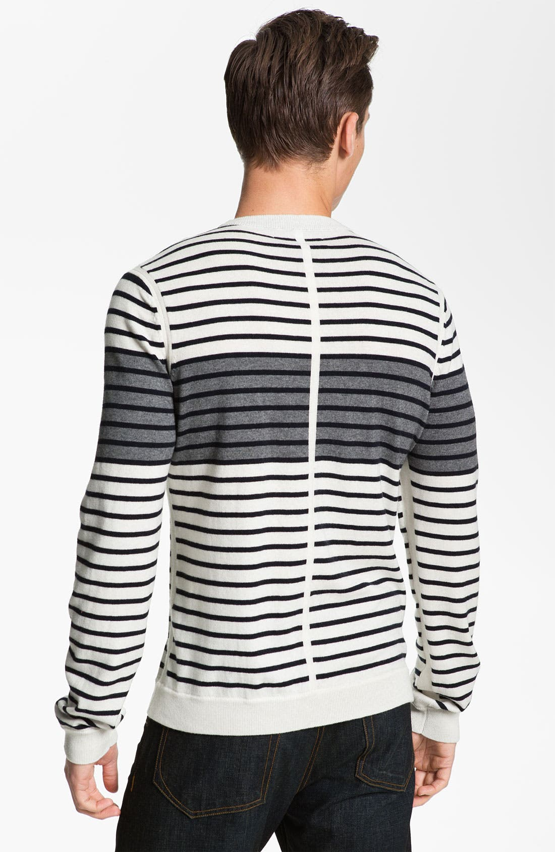 Alternate Image 2  - rag & bone 'Patagonia' Stripe Crewneck Sweater