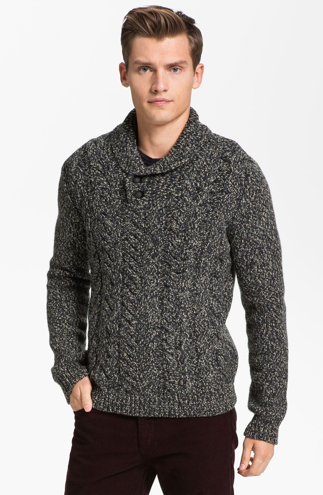 Main Image - rag & bone 'Buxton' Shawl Collar Sweater