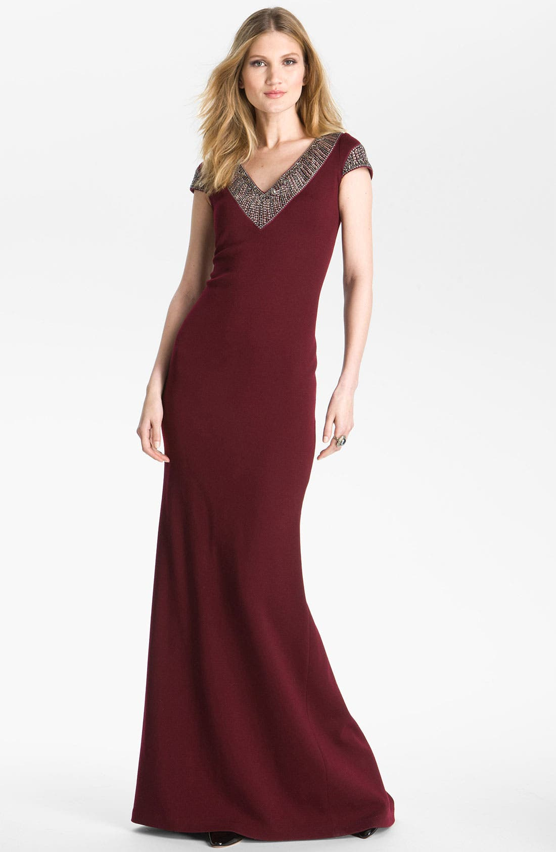 Main Image - St. John Collection Beaded Milano Knit Gown