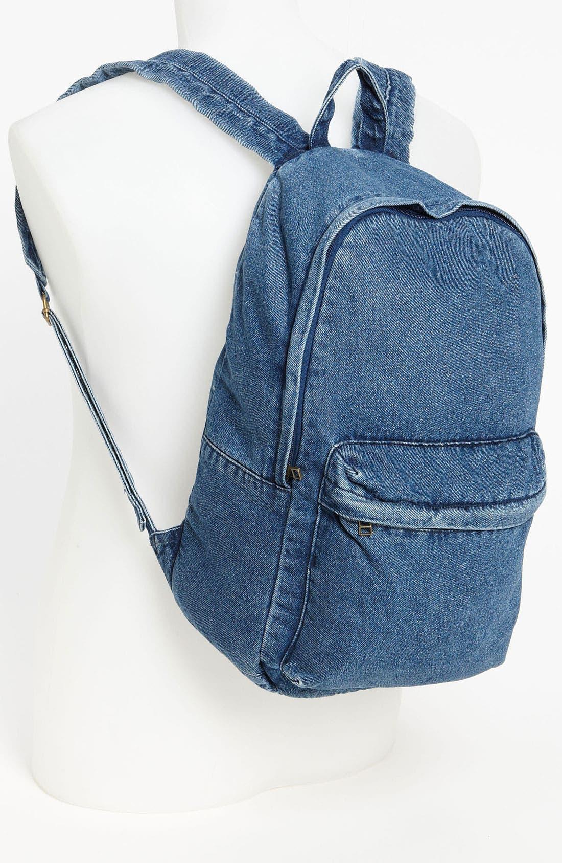 Alternate Image 2  - Topman Denim Backpack