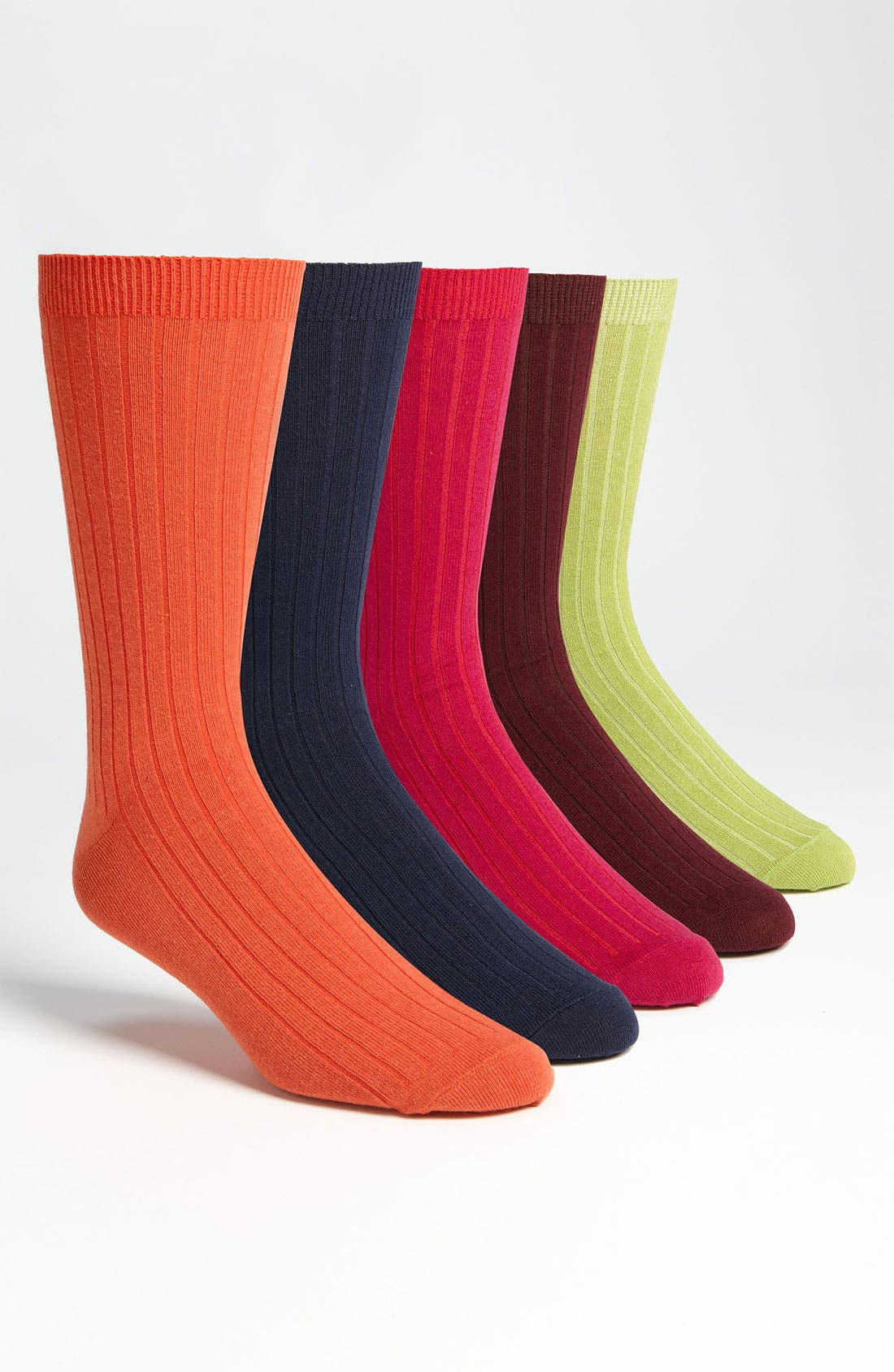 Main Image - Topman 'Hero Workwear' Ribbed Socks (5-Pack)