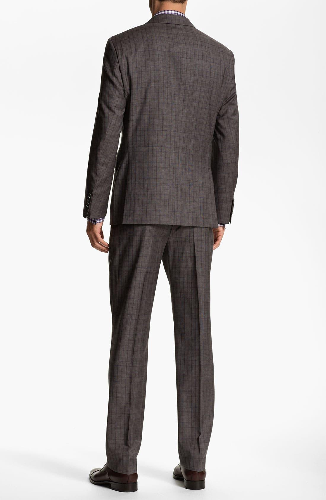 Alternate Image 3  - BOSS Selection 'Howard/Court' Trim Fit Plaid Suit
