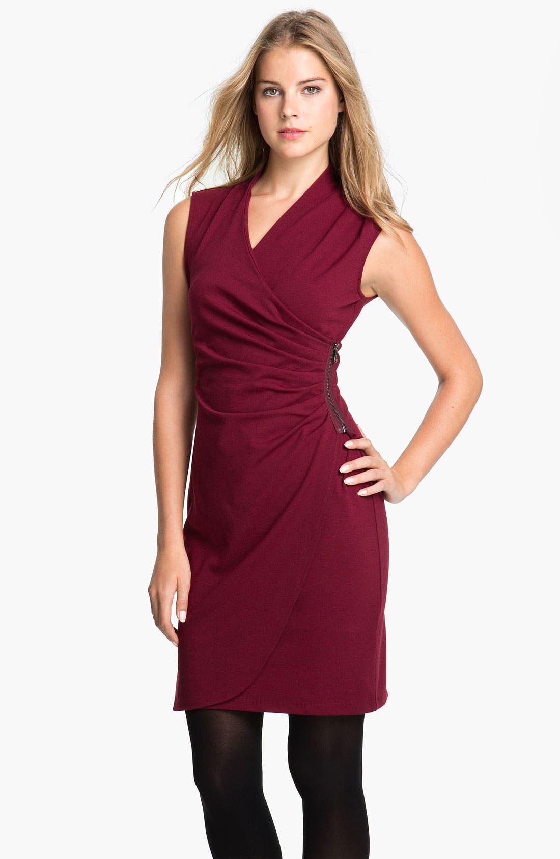 Alternate Image 1 Selected - Kenneth Cole New York 'Lindsey' Ponte Dress (Petite)