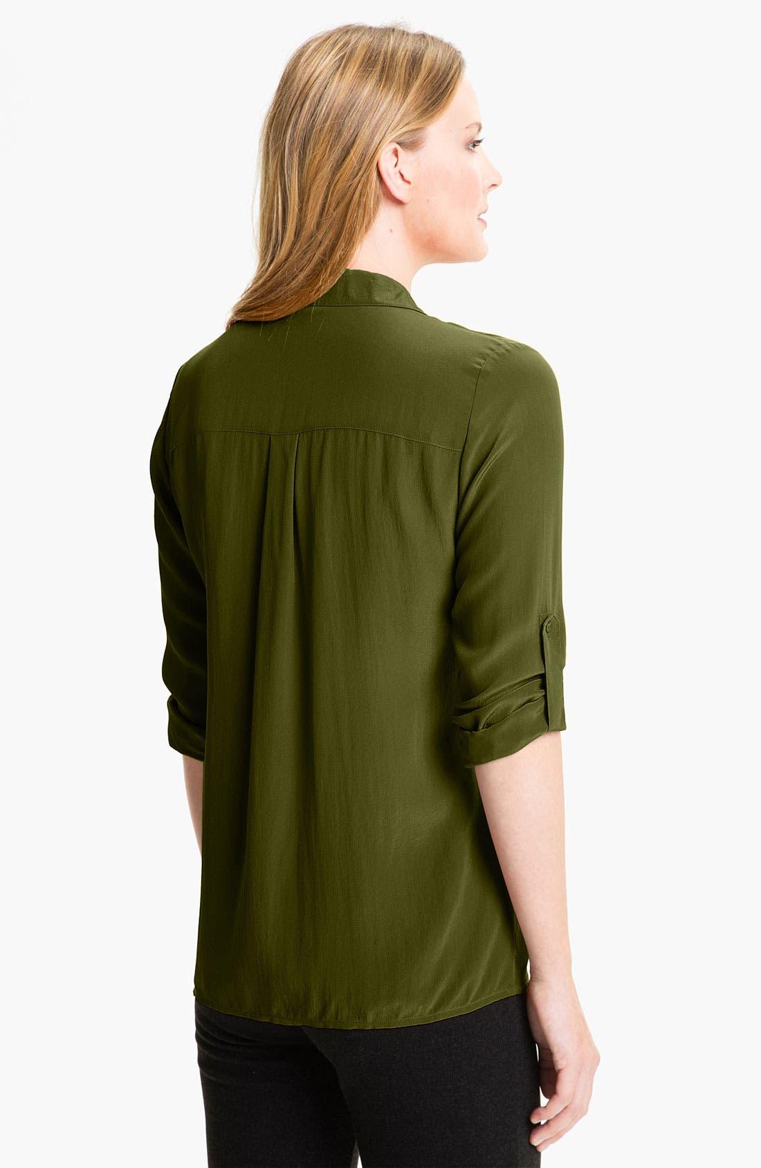 Alternate Image 2  - Eileen Fisher Crêpe de Chine Silk Shirt