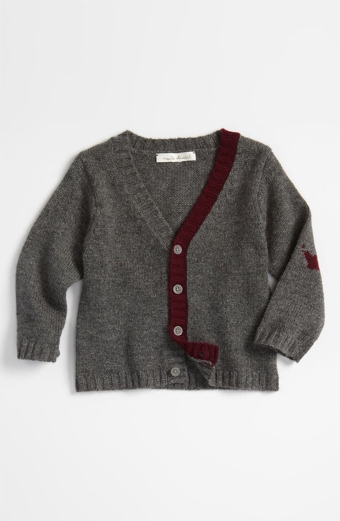 Alternate Image 1 Selected - Marie-Chantal Cashmere Cardigan (Infant)