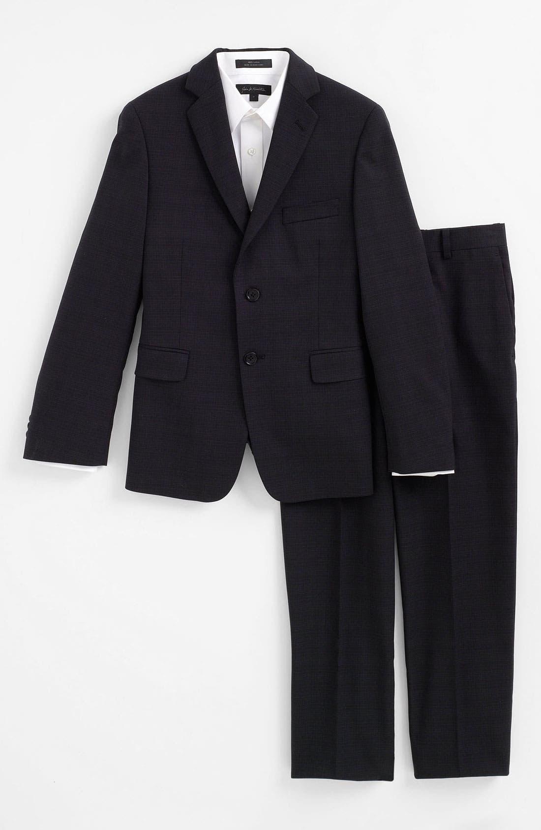 Main Image - John Varvatos Star USA Wool Suit (Big Boys)
