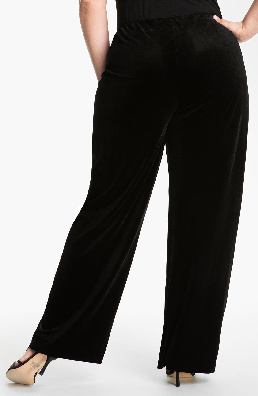 Alternate Image 2  - Alex Evenings Velvet Pants (Plus)