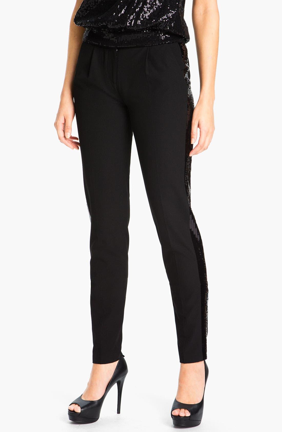 Alternate Image 1 Selected - MICHAEL Michael Kors Sequin Tuxedo Pants