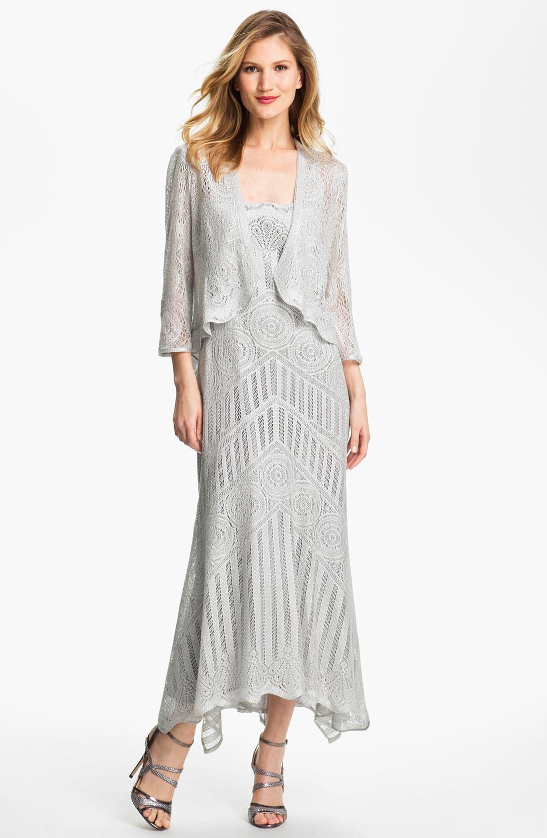 Alternate Image 1  - Damianou Multi Strap Crocheted Dress & Jacket