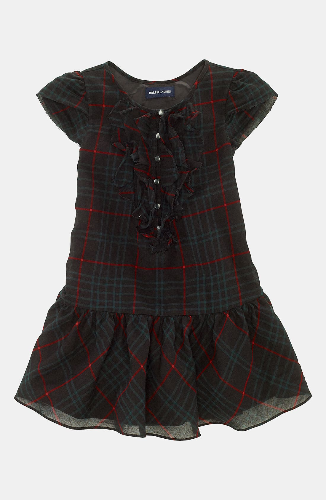 Main Image - Ralph Lauren Plaid Dress (Toddler)