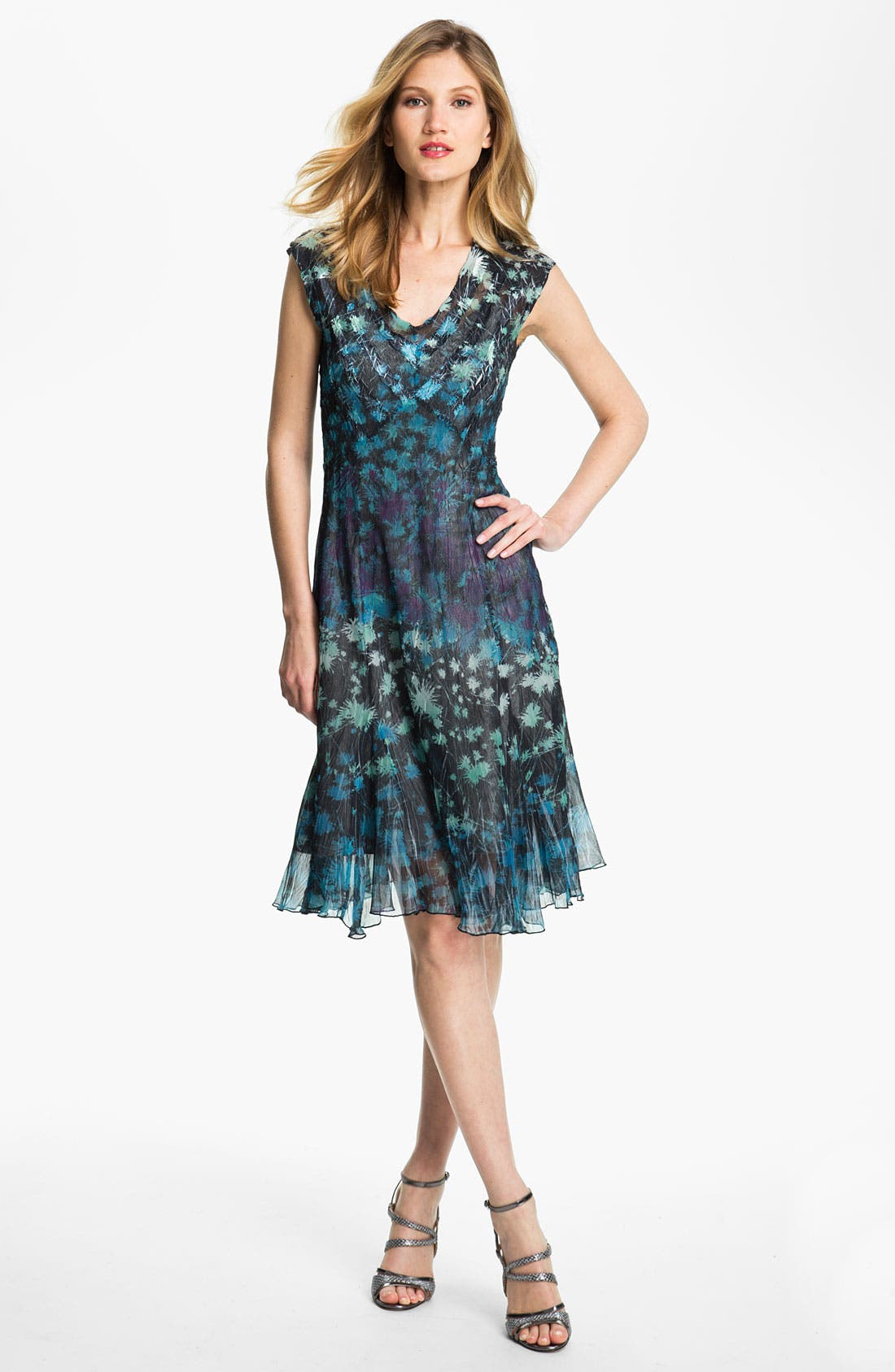 Alternate Image 1 Selected - Komarov Print Fit & Flare Dress
