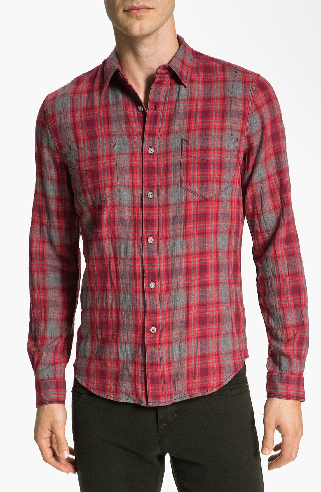 Alternate Image 1 Selected - life/after/denim 'Spadar' Plaid Woven Shirt
