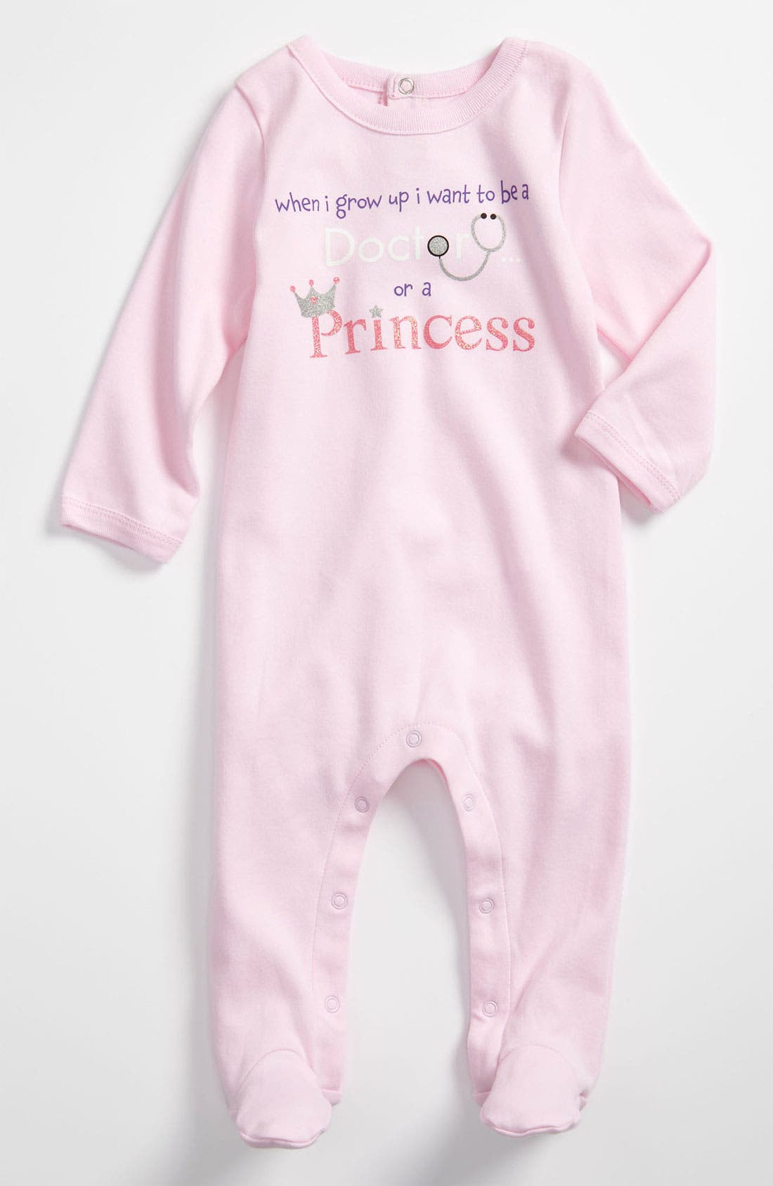 Alternate Image 1 Selected - Sara Kety Baby & Kids 'Doctor Princess' Footie (Infant)
