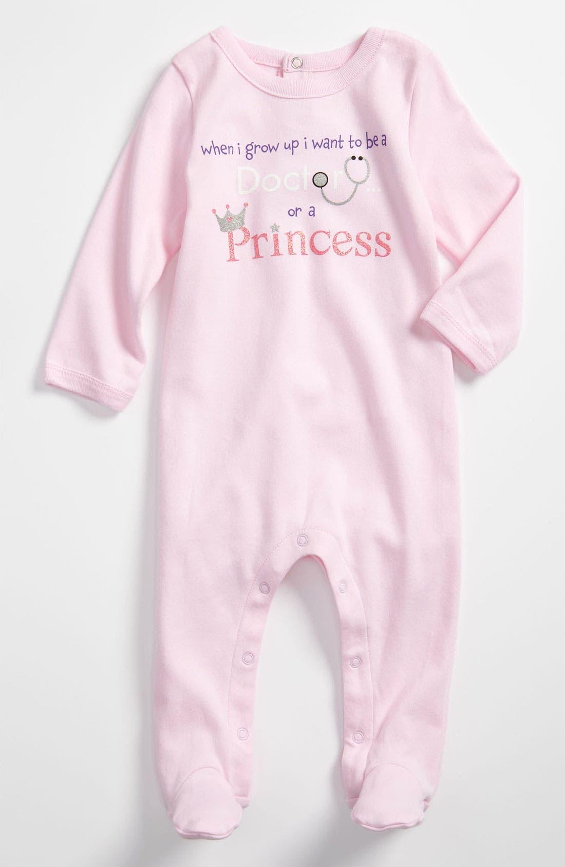 Main Image - Sara Kety Baby & Kids 'Doctor Princess' Footie (Infant)