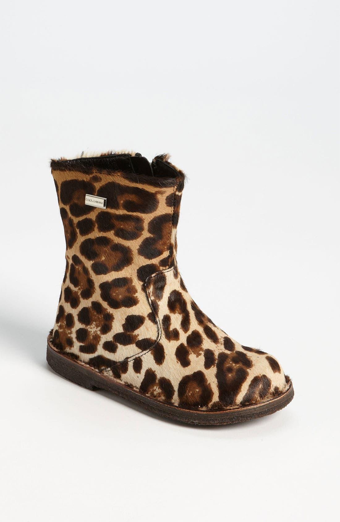 Main Image - Dolce&Gabbana Calf Hair Boot (Walker & Toddler)