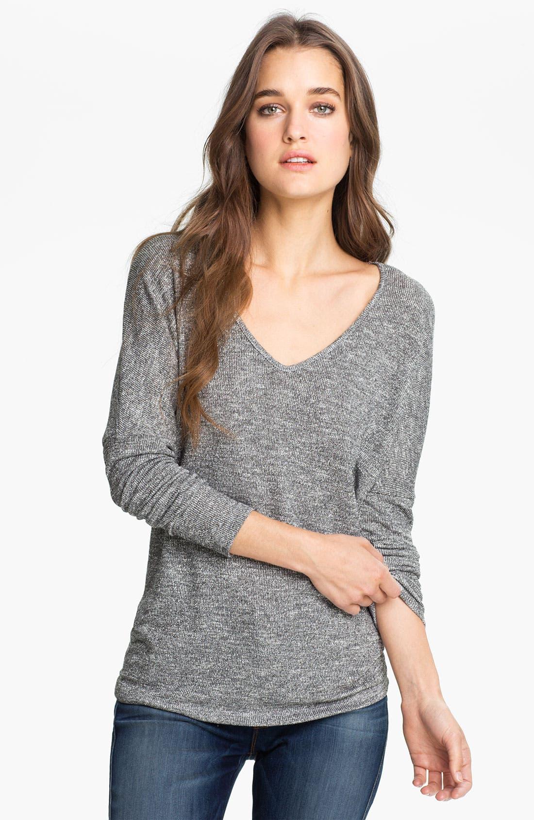 Main Image - Velvet Oversized Metallic Sweater (Nordstrom Exclusive)