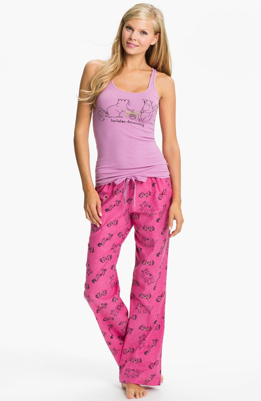Alternate Image 1 Selected - Make + Model Flannel Pajamas Gift set