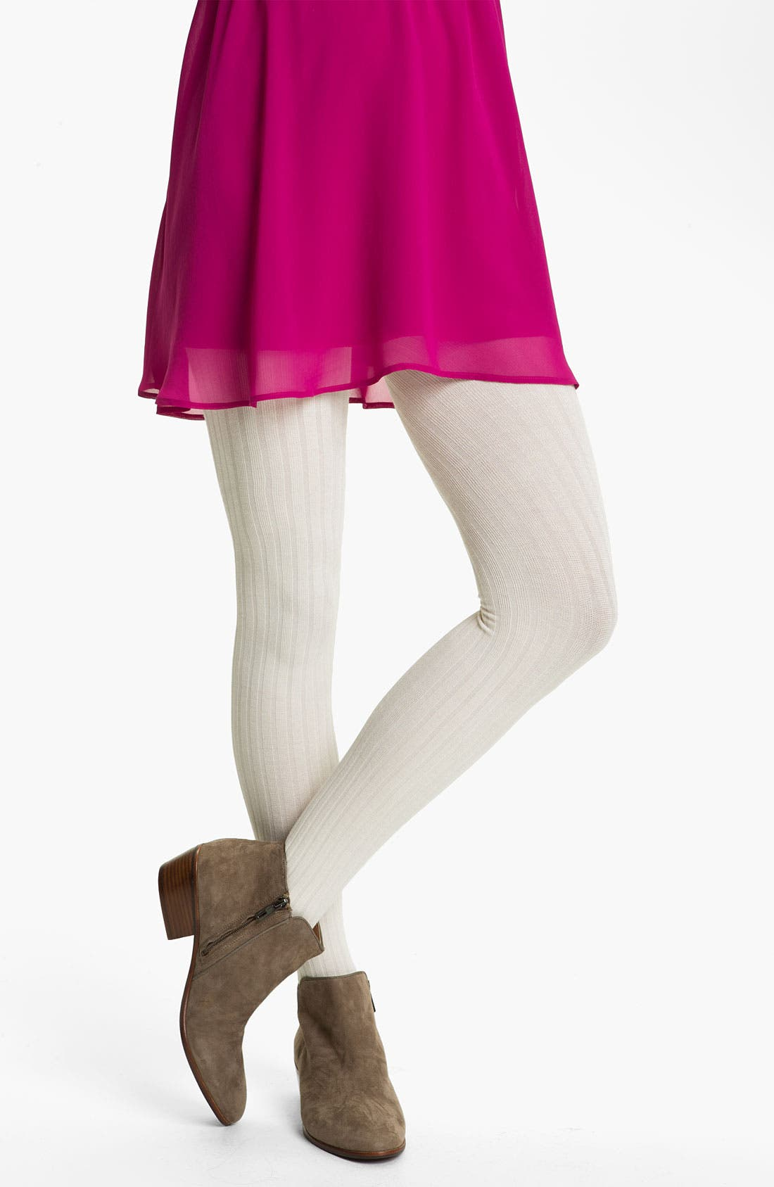 Alternate Image 1 Selected - Frenchi® Ribbed Tights (Juniors)