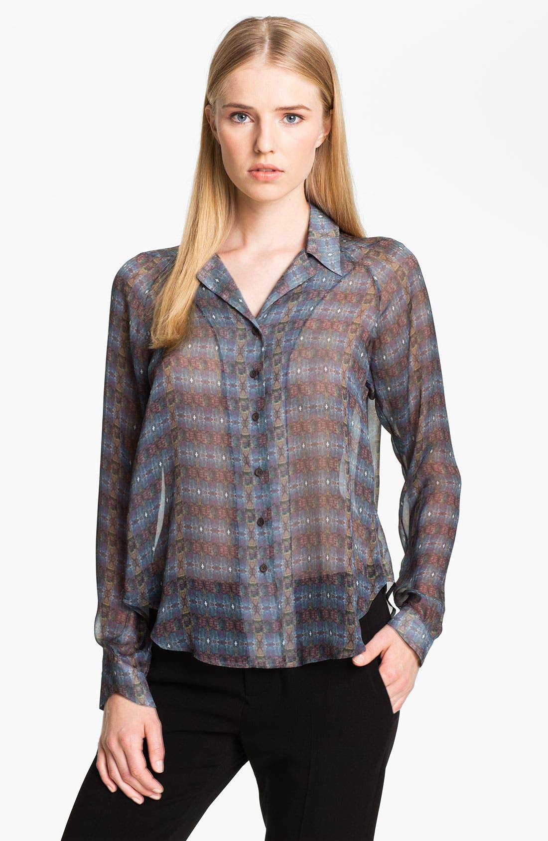 Main Image - Theyskens' Theory 'Baronne Ishell' Silk Shirt