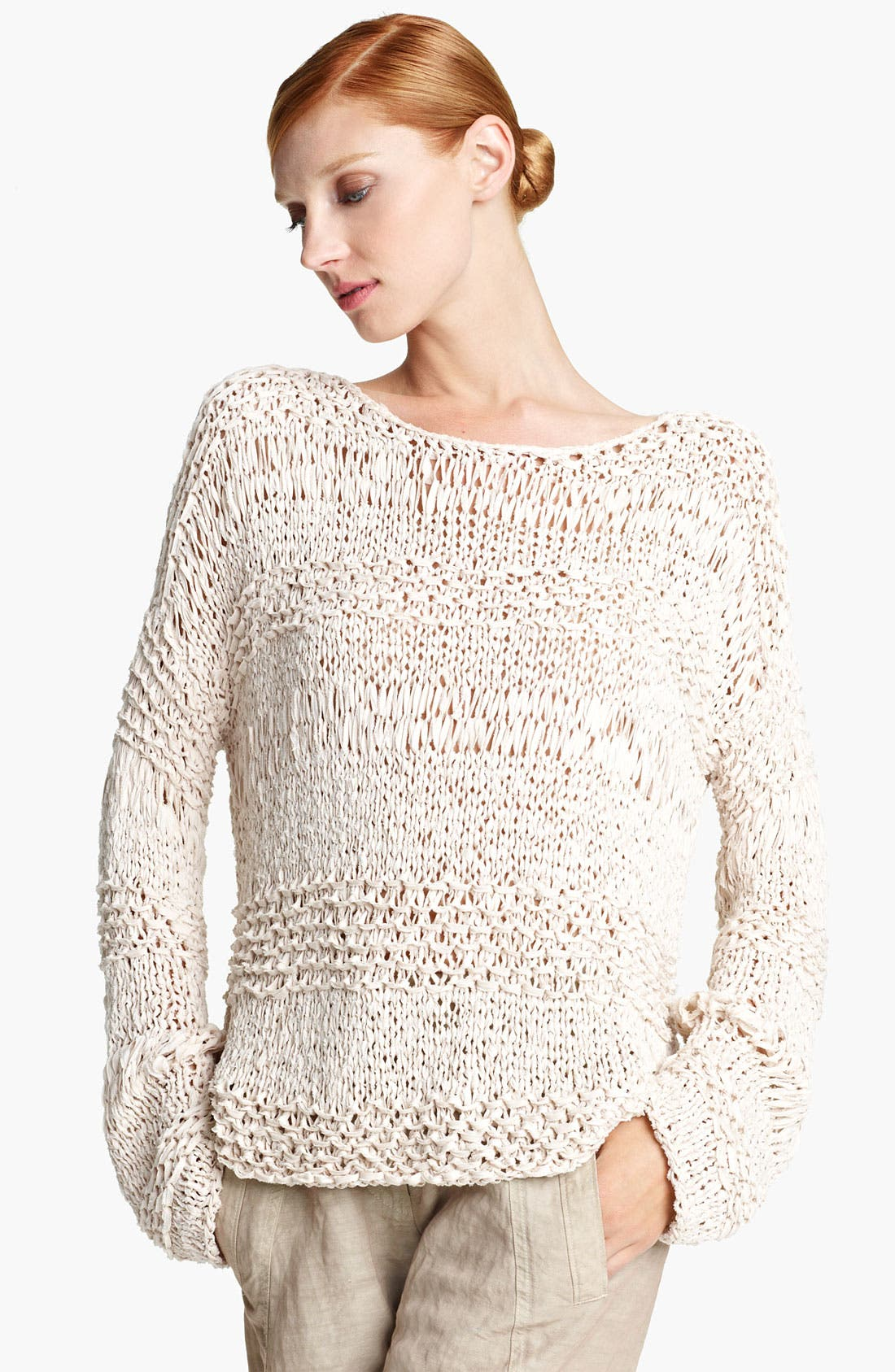 Alternate Image 1 Selected - Donna Karan Collection Ribbon Knit Sweater