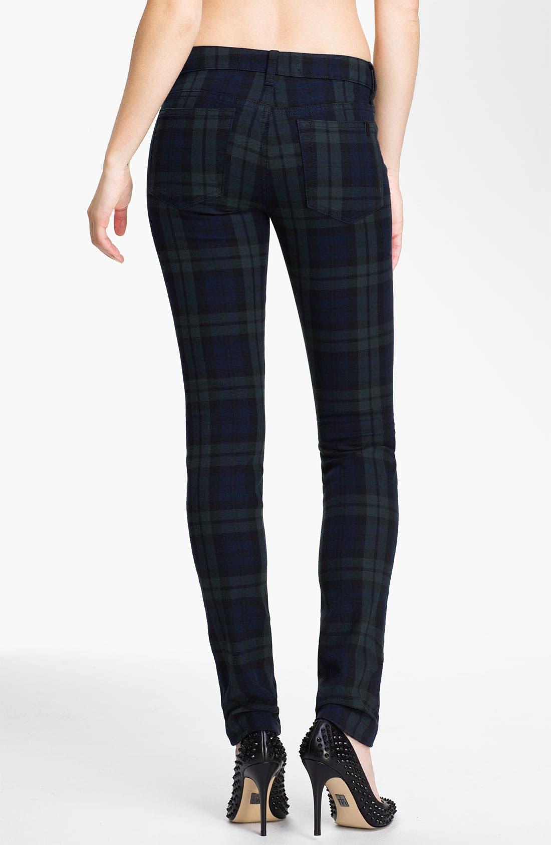 Alternate Image 2  - Joe's Skinny Stretch Denim Jeans (School Yard Plaid)