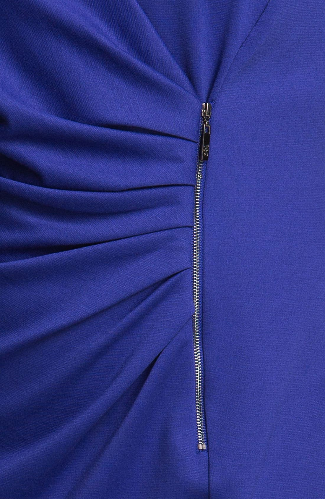 Alternate Image 3  - Jessica Simpson Zipper Detail Ponte Knit Sheath Dress (Plus)