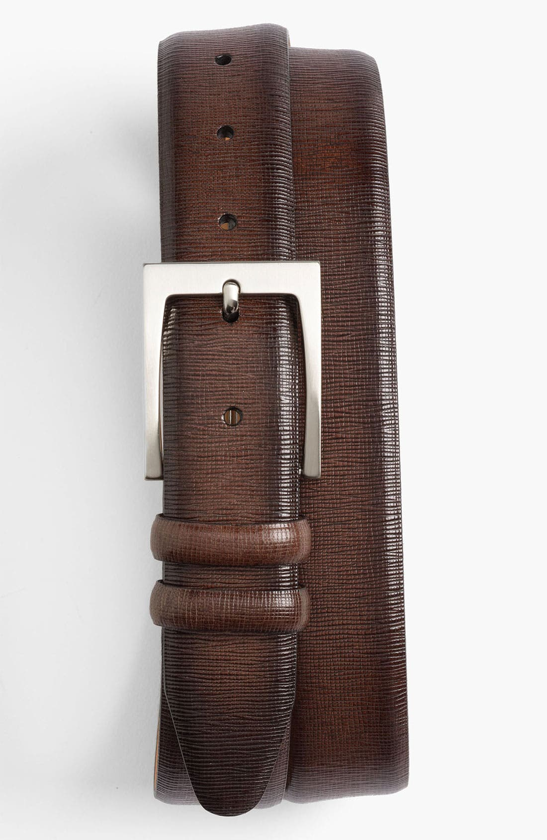 Alternate Image 1 Selected - John W. Nordstrom® Saffiano Belt