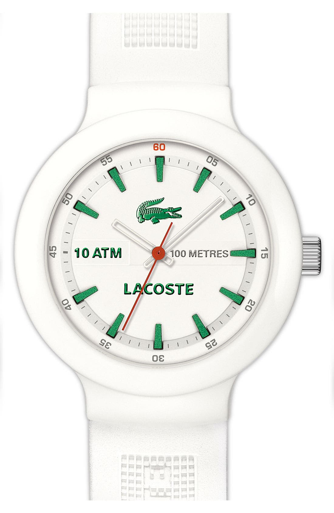 Alternate Image 1 Selected - Lacoste 'Boreno' Silicone Strap Watch, 44mm