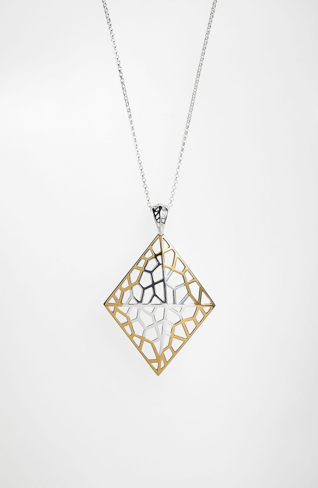 Alternate Image 1 Selected - Argento Vivo 'Prism' Long Diamond Shape Pendant Necklace