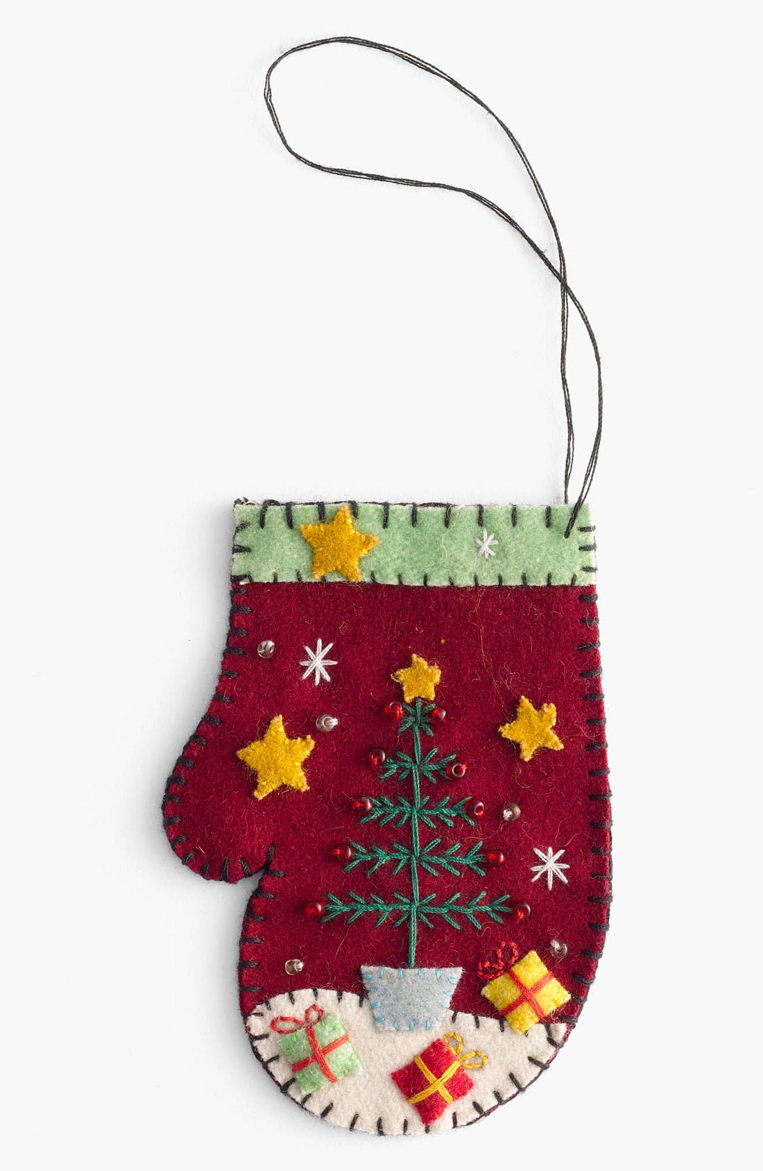 Alternate Image 1 Selected - New World Arts 'Tree with Presents' Mitten Ornament
